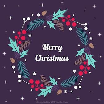 Guirnalda decorativa de navidad en diseño plano