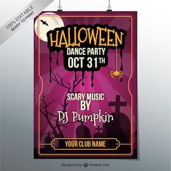 Halloween cartel fiesta de baile