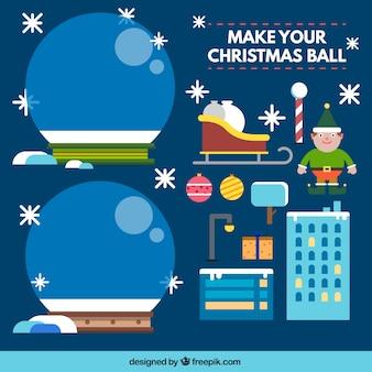 Haz tu bola de cristal navideña