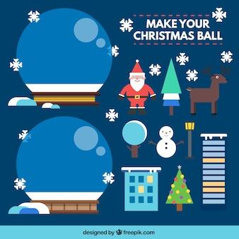 Haz tu bola de navidad