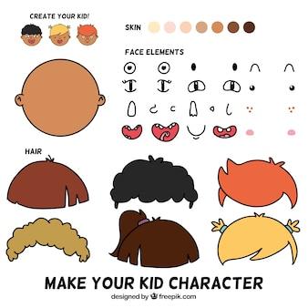 Haz tu personaje de niño