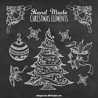 hecho a mano elementos de la Navidad