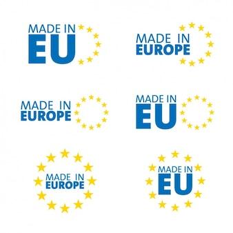 Hecho en europa, símbolos