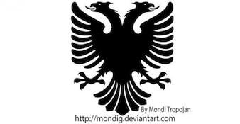Heráldica Águila Vector siluetas