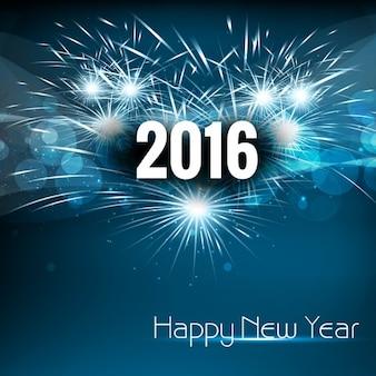 Hermosa Año Nuevo 2016 del fondo