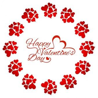 Hermosa tarjeta de amor roja