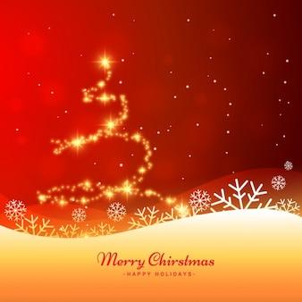 Hermosa tarjeta de felicitación de la Navidad
