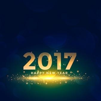 Hermoso fondo de año nuevo 2017 con efectos de destellos