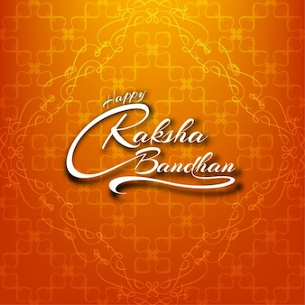 Hermoso fondo de feliz raksha bandhan