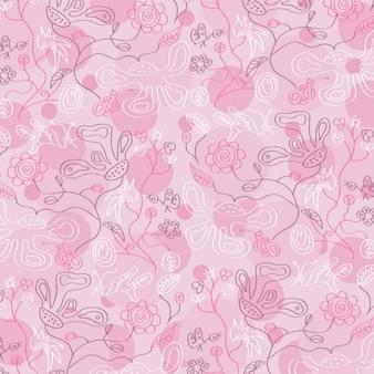 Hermoso fondo rosa floral