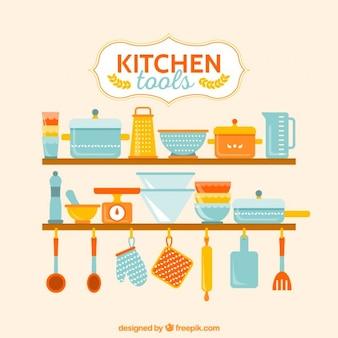 Herramientas coloridas de cocina
