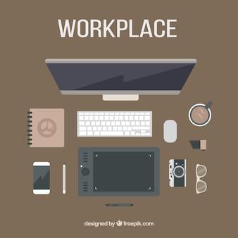 Herramientas de espacio de trabajo moderno de diseñador