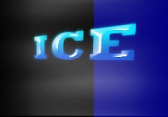 hielo y la niebla del filtro