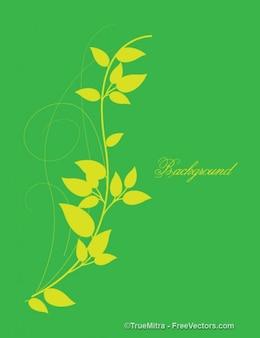 Hojas amarillas en verde