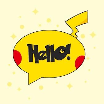 Hola botón de estilo pokemon