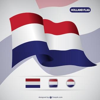 Holanda bandera vector