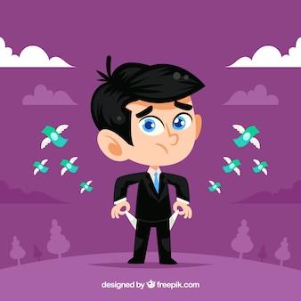 Hombre de negocios con billetes