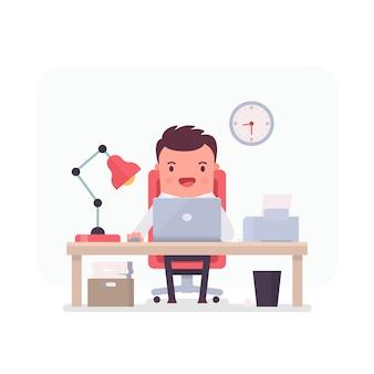 Hombre de negocios trabajando en una oficina