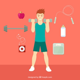 Hombre haciendo fitness
