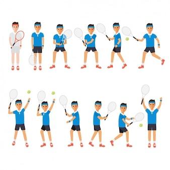 Hombre jugando a tenis