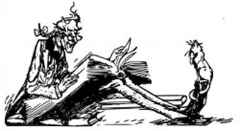 Hombre leyendo al gato