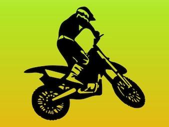 hombre que conducía una motocicleta