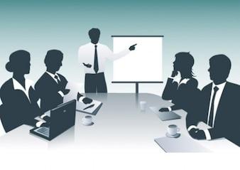 Hombres de negocios con la presentación