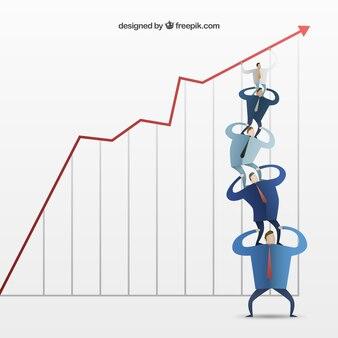 Hombres de negocios con un gráfico