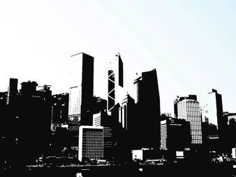 Hong kong ciudad edificios horizonte