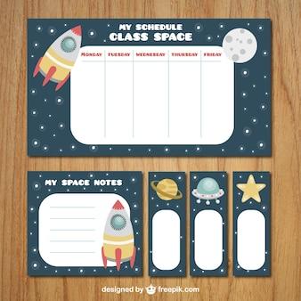 Horario y notas espaciales