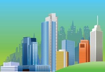 horizonte de la ciudad de gráficos vectoriales