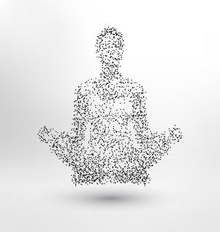 Humano abstracto meditando