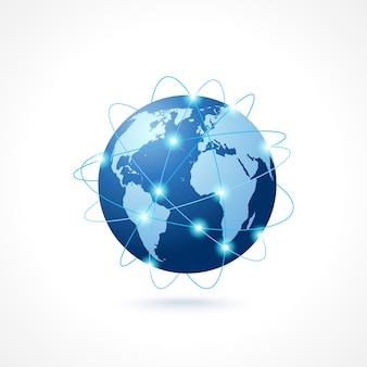 Icono de globo de la red
