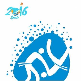 Icono de judo de los juegos olímpicos de río