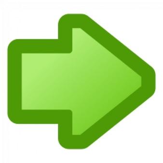 icono de la flecha verde de la derecha