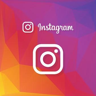 Icono de los medios sociales en el fondo geométrico