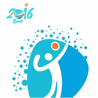 Icono de vóleibol de los juegos olímpicos
