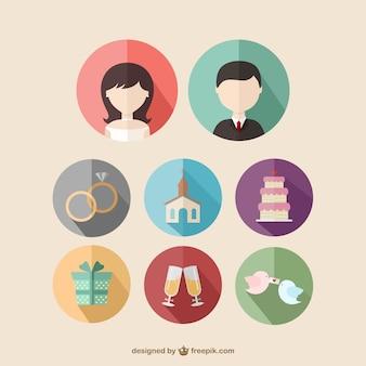 Iconos de boda