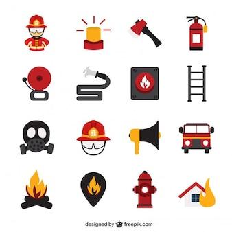 Iconos de bomberos