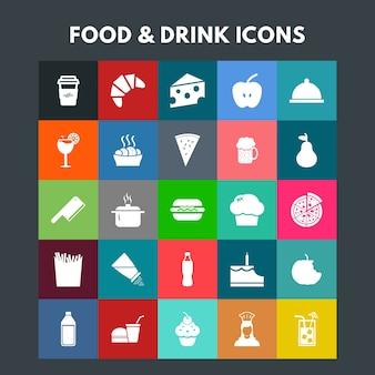 Iconos de comida y bebida