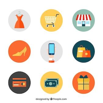Iconos de compras en línea