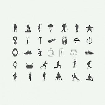 Iconos de deportes de aventura