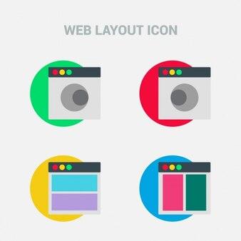 Iconos de diseño web