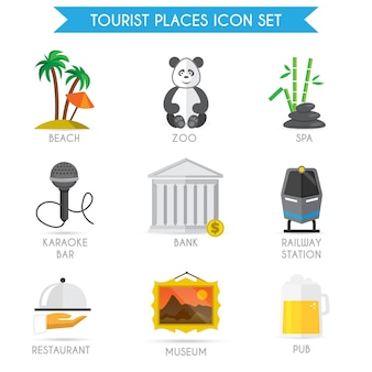 Iconos de espacios turísticos