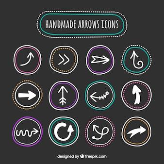 Iconos de flecha hechas a mano