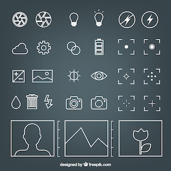 Iconos de la cámara
