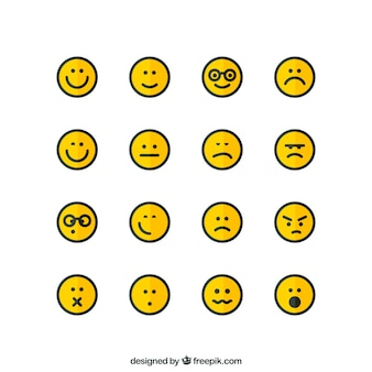Iconos de la cara