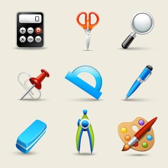 Iconos de la escuela realista conjunto