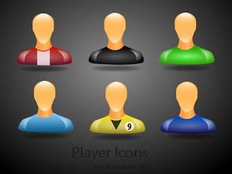 Iconos de los diferentes usuarios