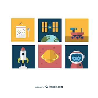 Iconos de misión espacial